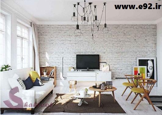 منزل سفید 01 - دکوراسیون آپارتمانی اسکاندیناوی غرق در رنگ سفید